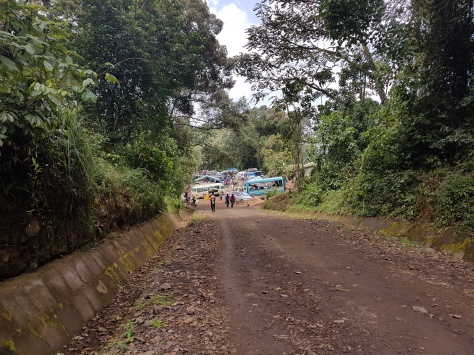 The final steps to Mweki Gate