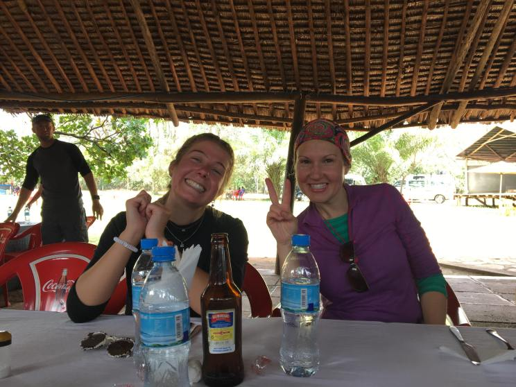 Gemma and I - peace man!